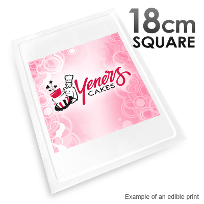 18cm Square Custom Edible Printed Image