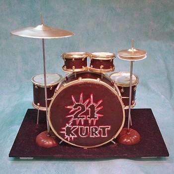 Cake Decorating Drum Kit : Drum Kit Cake