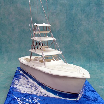 Fishing Boat Boats Ships Sea 3d Cakes