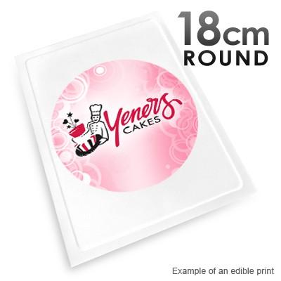 18cm Round Custom Edible Printed Image