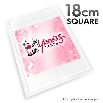 18cm Square Custom Edible Printed Image