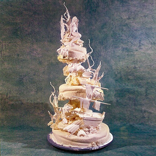 3 Tier Mermaid And Diver Wedding Cake