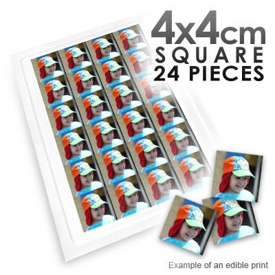 4x4cm Square Custom Edible Printed Image