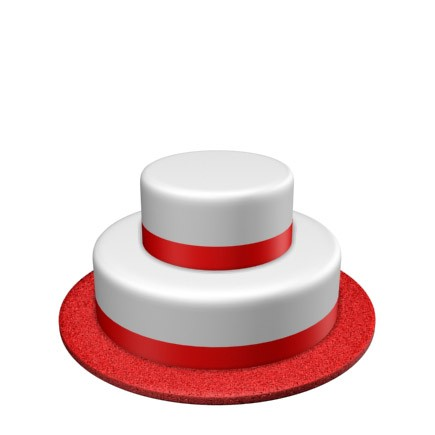 2 Tier - Round - Medium - 53 Portions