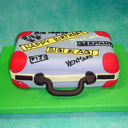 Suitcase 3D Cake