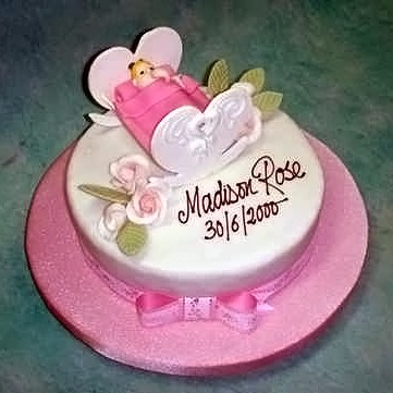 Baby in Cradle Cake