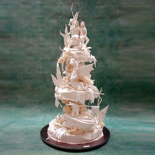 Medieval Underwater Wedding Cake