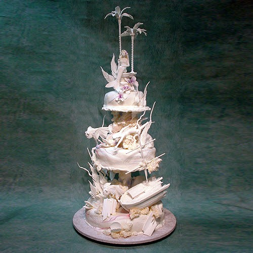 Mermaid And Diver Wedding Cake