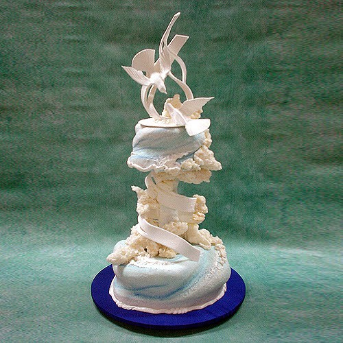 Wind Of Love Wedding Cake