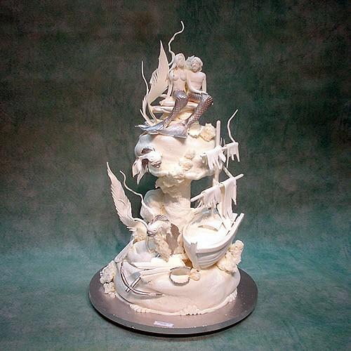 Mermaid Couple Wedding Cake