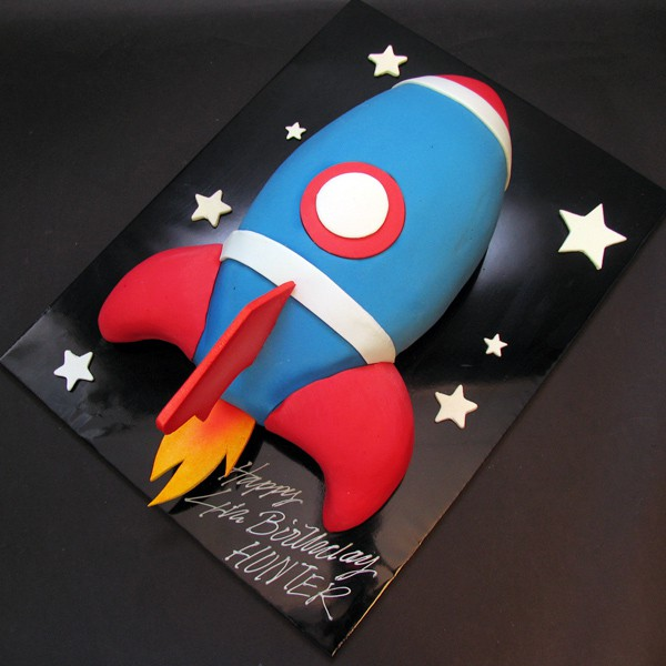 How To Make A Space Rocket Birthday Cake