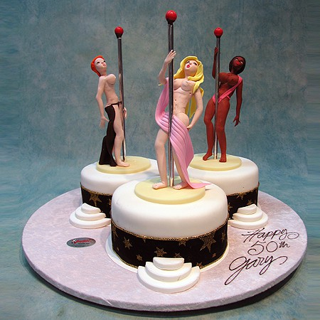 3 Strippers Adults Only 3d Cakes