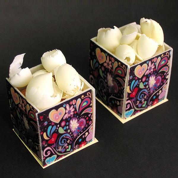 Hearts Cube Cake