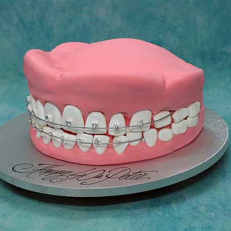 3D Dentures Cake