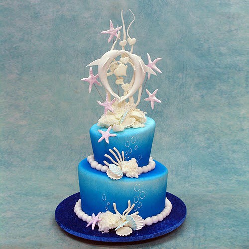 Wedding Cake With Double Dolphins