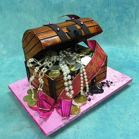 3D Treasure Chest Cake