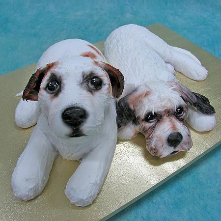 3D Double Dog Cake