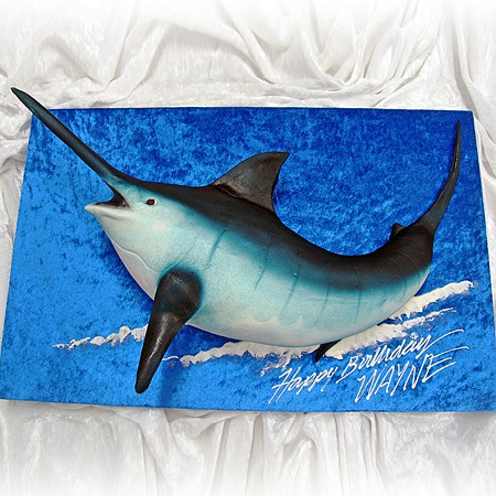Marlin Fish 3D Cake