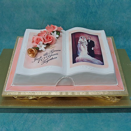 Cake Designs Book Shape : Open Book Cake