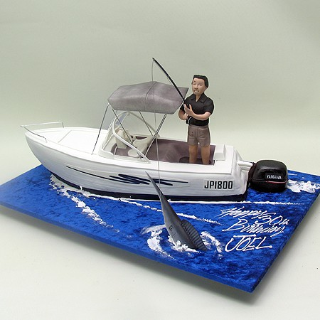 Fishing Man On A Boat Cake Boats Ships Sea 3d Cakes