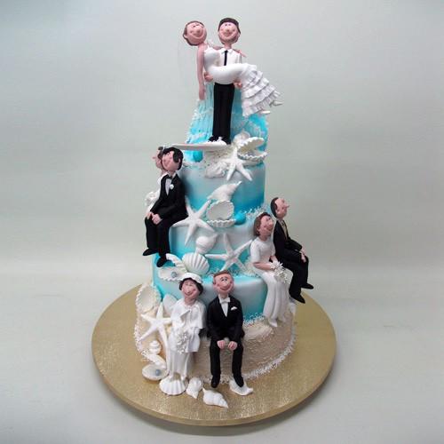 4 Tier 4 Generation Wedding Cake