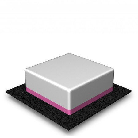1 Tier - Square - High - 66 Portions