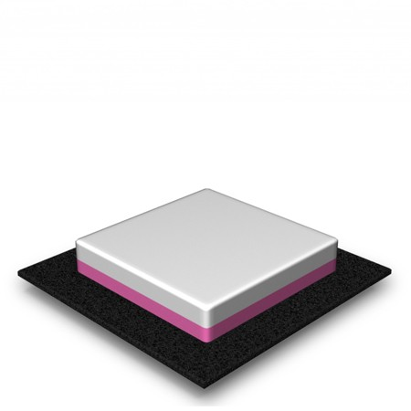 1 Tier - Square - Low - 33 Portions