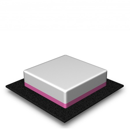 1 Tier - Square - Medium - 50 Portions