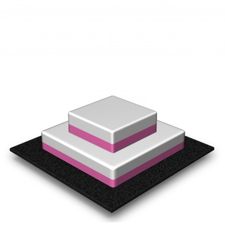 2 Tier - Square - Low - 45 Portions