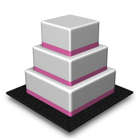 3 Tier - Square - High - 132 Portions