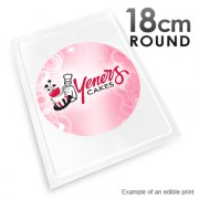 18cm Round Custom Edible Printed Image