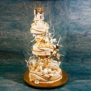 Underwater Scenery Wedding Cake with Castle