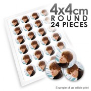 4cm Round Custom Edible Printed Image