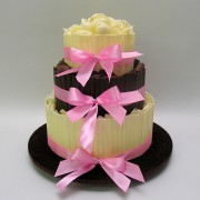 Chocolate - 3 Tiers - 78 Portions