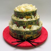 Chocolate Edible Images - 3 Tiers - 52 Portions