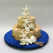 Beach Theme Cake - 2 Tiers - 53 Portions