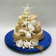 Beach Theme Cake - 3 Tiers - 52 Portions
