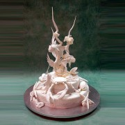 Seashells And Fishes Wedding Cake