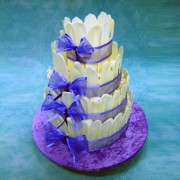 White Chocolate Fence Wedding Cake