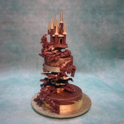 Chocolate Castle Wedding Cake