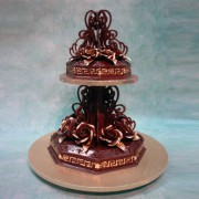 Versace Chocolate Wedding Cake
