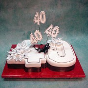 40 Th Birthday Cake