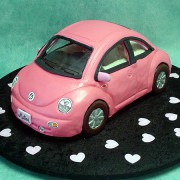 Pink Vw with Hearts