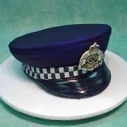 Police Hat 3D Cake