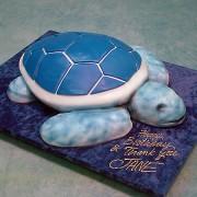 Blue Turtle Cake