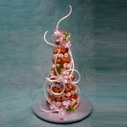 Profiterole with Toffee Orchids