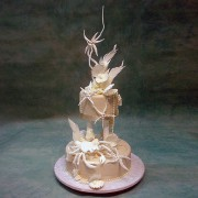 Wedding Cake with Crab Shells And Pearls