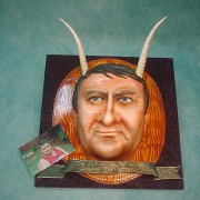 Man Face with Horns