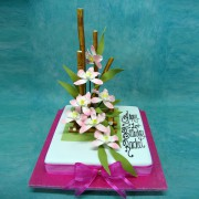 Square with Orchid And Bamboos