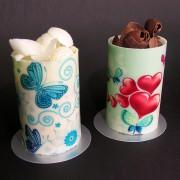 Hearts & Butterflies Cylinder Cake